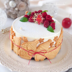 cheesecake/cookies/cake/Cafe/sweets/手作りおやつ/... 🎅絶望的に可愛いタルト風  可愛いサンタ…