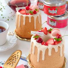 STRAWBERRY/chiffoncake/Cafe/cake/sweets/手作りデザート/... 🍃紅茶シフォンケーキ  Kusmi Te…(2枚目)