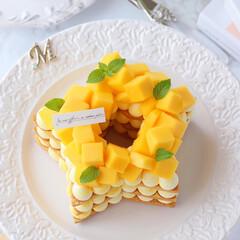 mango/手作りタルト/星型/マンゴータルト/クッキータルト/タルト/... ⭐️星型マンゴークッキーケーキ  フレッ…(2枚目)