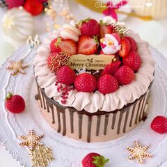 Cafe/chocolate/cake/Christmas/sweets/手作りおやつ/... 🎂クリスマスケーキ  今年もチョコ大好き…