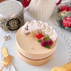 TEA/Cafe/cake/sweets/クリスマス/手作りデザート/... ミルクティームースケーキ&紅茶マドレー…