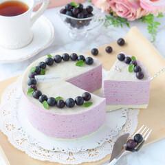 blueberry/crepe/萌え断/ブルーベリー/クレープ/ミルクレープ/... ブルーベリーミルクレープ  ホワイトミ…(1枚目)