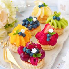 フォトジェニック/お菓子作り/スイーツ作り/手作りお菓子/手作りスイーツ/おうちおやつ/... こないだ作ったフルーツパイのミニver.…
