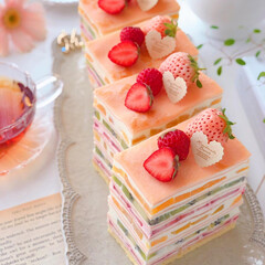 sweets/Cafe/cake/STRAWBERRY/fruits/stayhome/... 🍓フルーツミルクレープ  チーズクリーム…(2枚目)