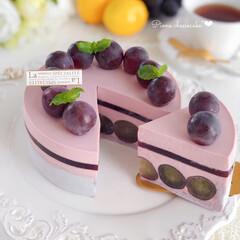 cheesecake/cake/Cafe/sweets/萌え断/手作りおやつ/... 🍇ピオーネチーズケーキ  大粒なピオーネ…