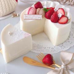 萌え断/STRAWBERRY/mousse/Cafe/yogurt/cake/... 🍓ホワイトムースケーキ  ホワイト生地に…(2枚目)