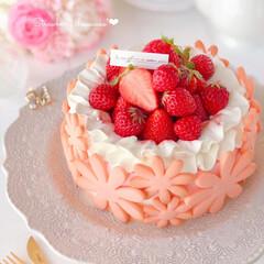 cheesecake/cookies/STRAWBERRY/sweets/Cafe/cake/... 🍓絶望的に可愛いタルト…風  春らしいお…(1枚目)