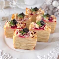 Cafe/sweets/Apple/cake/萌え断/手作りおやつ/... 🍎りんごのガトーインビジブル  食感はり…(1枚目)
