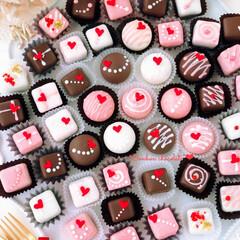 truffe/Valentine/chocolate/sweets/Cafe/手作りデザート/... 💝ハートなボンボンショコラたち  𓍯ミル…