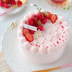cherry/STRAWBERRY/sweets/Cafe/cake/さくらんぼ/... 🍓デコレーションケーキ🍒  久しぶりにバ…
