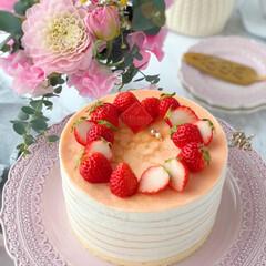crepe/Cafe/cake/STRAWBERRY/sweets/おうちカフェ/... 🍓いちごのミルクレープ  いちごたっぷり…(3枚目)