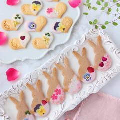 Flower/cookies/おうちカフェ/お花/手作りクッキー/エディブルフラワー/... 🌸押し花クッキー  エディブルフラワーの…(2枚目)