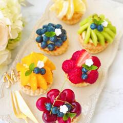 フォトジェニック/お菓子作り/スイーツ作り/手作りお菓子/手作りスイーツ/おうちおやつ/... こないだ作ったフルーツパイのミニver.…(2枚目)