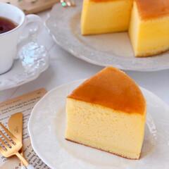 Cafe/cheesecake/cake/sweets/LIMIAスイーツ愛好会/LIMIAスイーツ同好会/... 🧀スフレチーズケーキ  割れずに綺麗に焼…(2枚目)