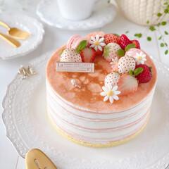 Cafe/cake/sweets/STRAWBERRY/手作りスイーツ/手作りおやつ/... 🍓ストロベリー♡チーズミルクレープ クッ…(2枚目)