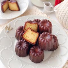 Cafe/cake/sweets/萌え断/手作りケーキ/手作りスイーツ/... 🍊カヌレ  カヌレ練はじめました😂  外…