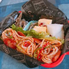 lunchbox/高校生弁当/娘弁当/弁当/お弁当/スパゲッティ/... ナポリタン弁当🍝