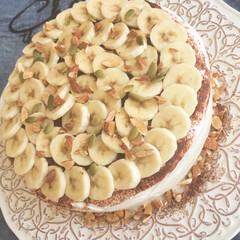 ナッツ/スイーツ/手作りケーキ/home made/バナナ/バナナケーキ/... バナナケーキ🍌