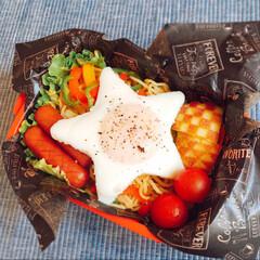 高校生弁当/娘弁当/lunchbox/弁当/お弁当/目玉焼き/... 彩ペペロンチーノ弁当🍝