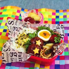 フード/お昼ごはん/lunchbox/娘弁当/高校生弁当/ハンバーグ/... ハンバーグ弁当🥢