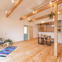 家づくり/自然素材/無垢/無垢フローリング/ヒノキ/新築/... ゆったりした平屋、自然素材と薪ストーブの…
