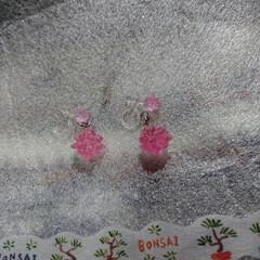 ピンク色/ハンドメイド/イヤリング/金平糖/レジンアクセサリー 🍀手作りのイヤリング🍀   リミ友さんに…(2枚目)