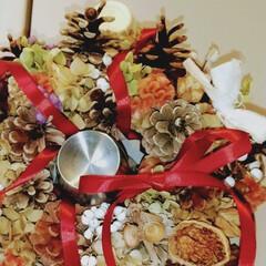 クリスマス/植物/木の実/玄関/ハンドメイド/雑貨/... ♡リース ♡ハンドメイド  初秋の頃に作…
