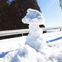 """ドライブ/雪景色/おでかけ/暮らし 昨日、雪景色が見たくて""""比叡山""""に行って…"""