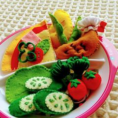 おもちゃ/ハンドメイド雑貨/ハンドメイド/暮らし ♡フェルト ♡ままごと  今日の新入りさ…