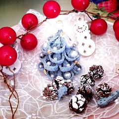 クリスマスツリー/つまみ細工/ハンドメイド/リミアな暮らし ゆうべ ふと…つまみ細工がしたくなって …