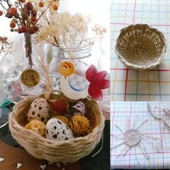 かご/ハンドメイド/雑貨/暮らし ♡かご編み ♡ハンドメイド  初めて籠を…