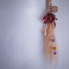 ペイント/麻紐/ハンドメイド/ドライフラワー/天然素材/木の実好き/... ♡ハロウィン 飾り  少し大人目なのを作…(1枚目)