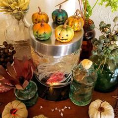 ハンドメイド/雑貨/ハロウィン/100均deハロウィン ♡ハロウィン ♡かぼちゃ ♡ハンドメイド…