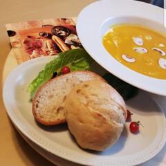 ポタージュスープ/坊ちゃんかぼちゃ/食欲の秋 坊っちゃんカボチャのポタージュ #坊っち…