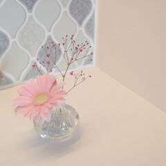 机/棚/ダイニング/洋室/洗面所/部屋全体/... \一輪でもおしゃれな花瓶/  可愛すぎて…(2枚目)