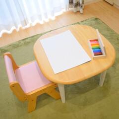 新生活/収納/雑貨/住まい/おすすめアイテム/暮らし 子ども用の椅子が可愛くて買った 机と椅子…(1枚目)