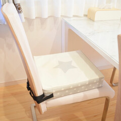 お子様用 お食事クッション BIG ダマスク 座布団 高さ 調節 キッズチェア ベビーチェア 子供 椅子 | プッパプーポ(ベビーラック、チェア)を使ったクチコミ「子供用のお食事クッション。  色んな柄や…」