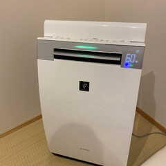 SHARP 加湿空気清浄機 プラズマクラスター25000搭載 KI-GX75-W(空気清浄機)を使ったクチコミ「最近はこの加湿器をずっとONにして 可動…」