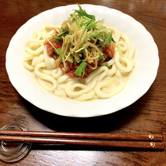 うどん/キムチ/手抜きご飯/LIMIAごはんクラブ/おうちごはんクラブ/節約 こんにちは。 毎日暑くて食欲が落ちますね…