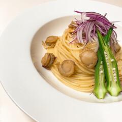 スパゲティ/お昼ごはん/手作り/イタリアン/lunch/ディチェコ/... lunch゚・*:.。❁ ホタテのバター…