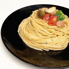 ランチ/ぱすた/lunch/手作り/パスタ/おうちごはん/... ❅:*.トマトとガーリックのパスタ.*:❅