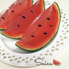 夏/すいか/ゼリー/フォロー大歓迎/至福のひととき/おやつタイム/... スイカ🍉ゼリー  スイカの果汁とサイダー…