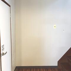 階段/現状回復/DIY/団地/ビフォー画像/黒歴史 階段前の壁ビフォー画像。 定番のコンクリ…
