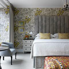 ホテル/ロンドン/色彩/テキスタイル 鮮やかな色や柄に、ファンキーなアンティー…
