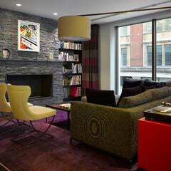 ホテル/ロンドン/色彩/テキスタイル/コンラン/アート コンラン・グループによるデザイン。機能性…