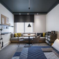 ホテル/ロンドン/エースホテル/ビンテージ ロフト風のスペースには20年代のビンテー…