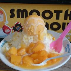台湾/グルメ/マンゴー/マンゴーかき氷/夏 台湾のマンゴーかき氷 マンゴーたっぷり!…