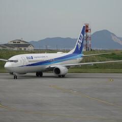 長時間耐久/飛行機/岩国錦帯橋空港/空港/ANA/展望デッキ/... 一日五便のうちの一機。那覇から。 貴重だ…