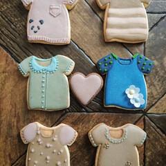 icingcookies/アイシングクッキー 今日はどの服にしようかなぁ👕 3歳のおし…