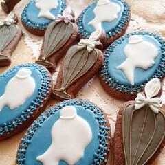 アイシングクッキー/リミとも部 大人な感じのアイシングクッキー 細かいレ…